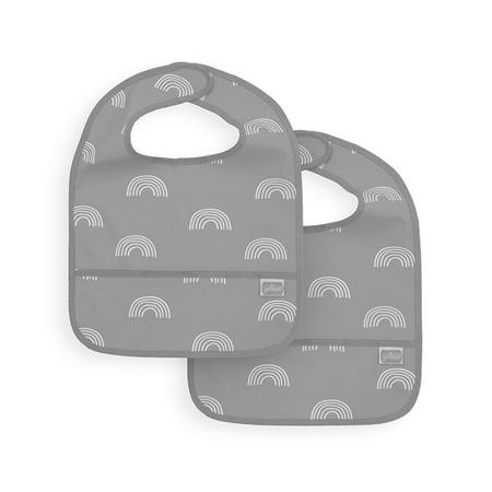 Jollein® Nepremočljivi slinček Rainbow Grey 2 kosa