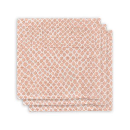 Slika Jollein® Komplet 3 tetra pleničk Snake Pale Pink 31x31