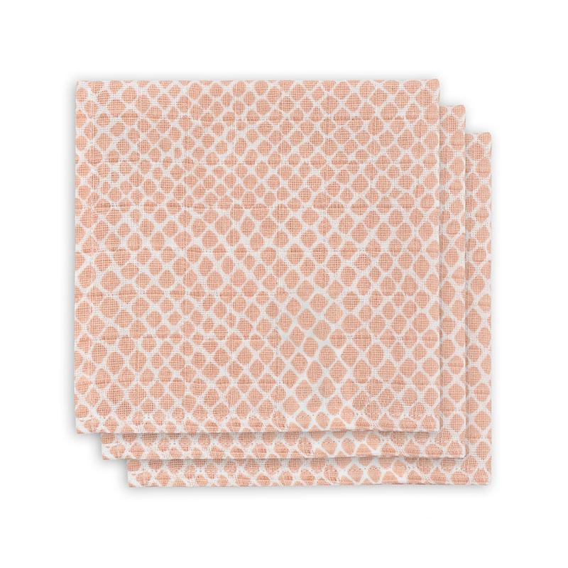 Jollein® Komplet 3 tetra pleničk Snake Pale Pink 31x31