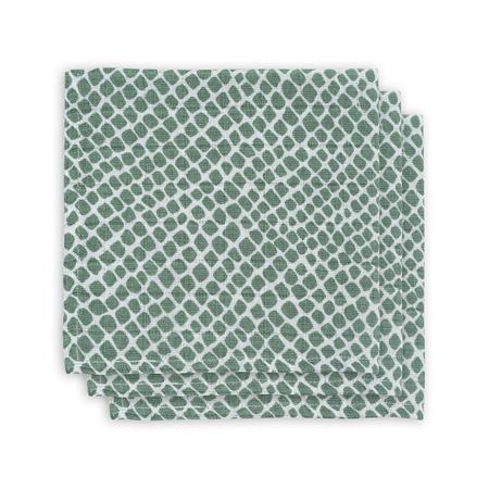 Slika Jollein® Komplet 3 tetra pleničk Snake Ash Green 31x31