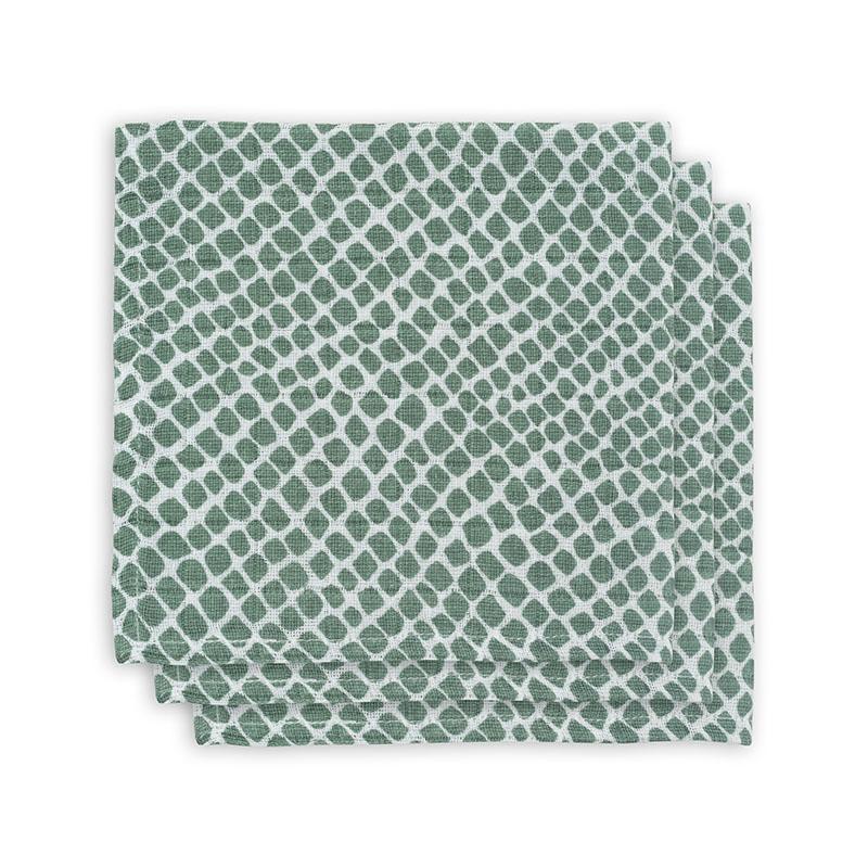 Jollein® Komplet 3 tetra pleničk Snake Ash Green 31x31