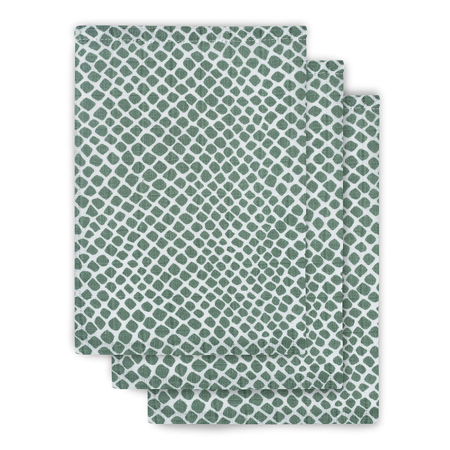 Jollein® Komplet 3 krpic za umivanje Snake Ash Green 15x21