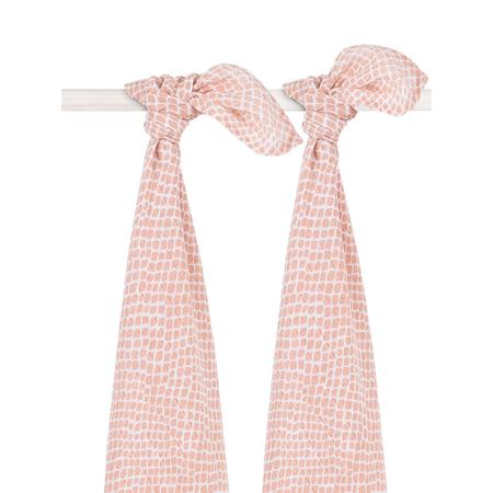 Slika Jollein® Komplet dveh tetra pleničk Snake Pale Pink 115x115
