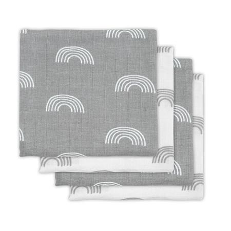 Slika Jollein® Komplet 4 tetra pleničk Rainbow Grey 70x70