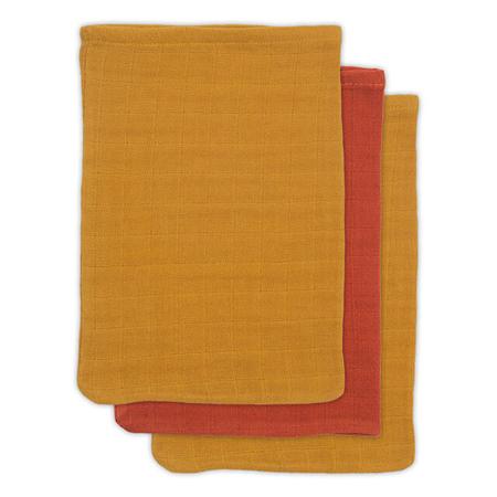 Slika Jollein® Komplet 3 krpic iz bambusa za umivanje Mustard Rust 15x20