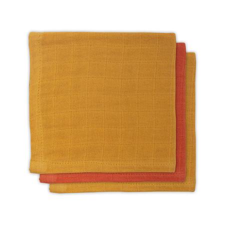 Slika Jollein® Komplet 3 tetra pleničk Mustard Rust 31x31