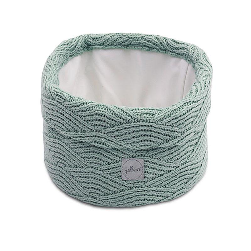 Jollein® Košara za shranjevanje River Knit Ash Green