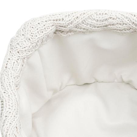 Slika Jollein® Košara za shranjevanje River Knit Cream White