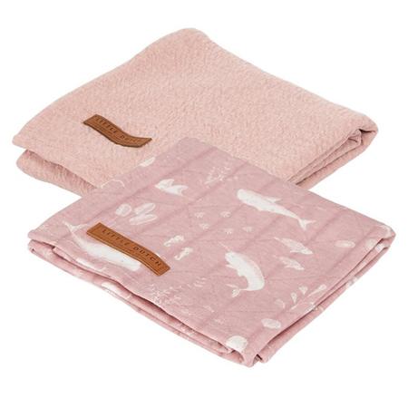 Slika Little Dutch® Komplet 2 tetra pleničk Ocean Pink 70x70