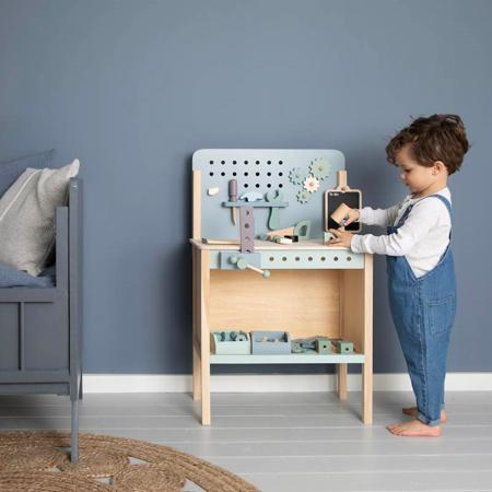 Little Dutch® Otroška delovna miza z orodjem