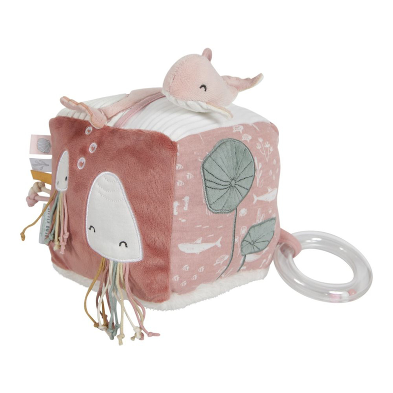 Little Dutch® Senzorična kocka Kit Ocean Pink