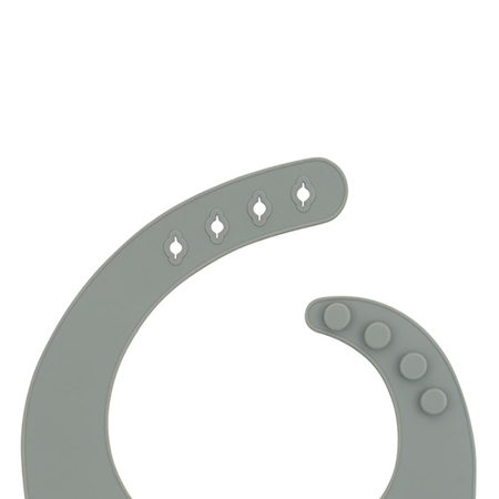 Slika Jollein® Silikonski slinček Storm Grey