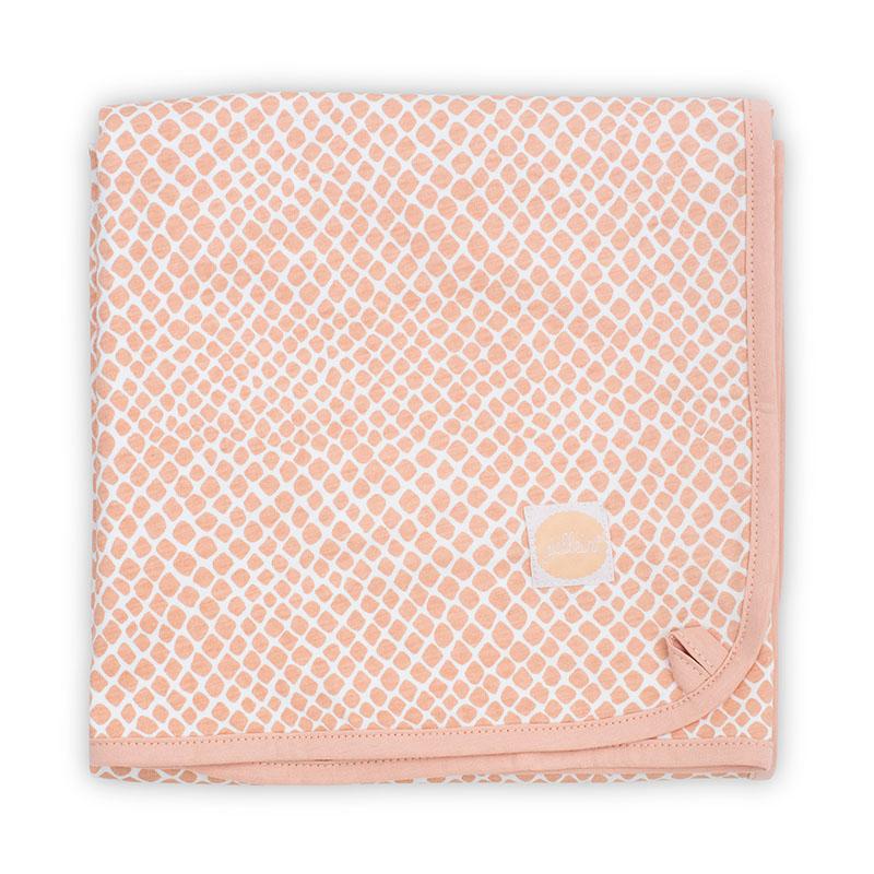 Jollein® Bombažna odejica Snake Pale Pink 75x100