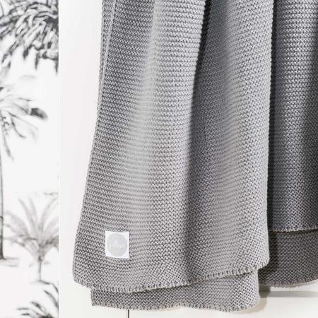Jollein® Pletena odejica Stone Grey 75x100