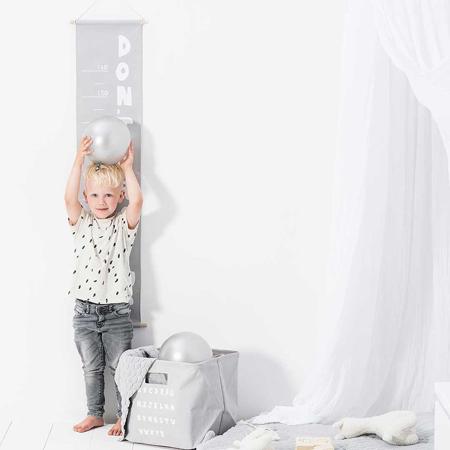 Slika Jollein® Stenski meter ABC Soft Grey