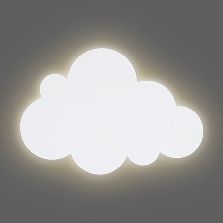 Slika Jollein® Stenska lučka Oblaček White