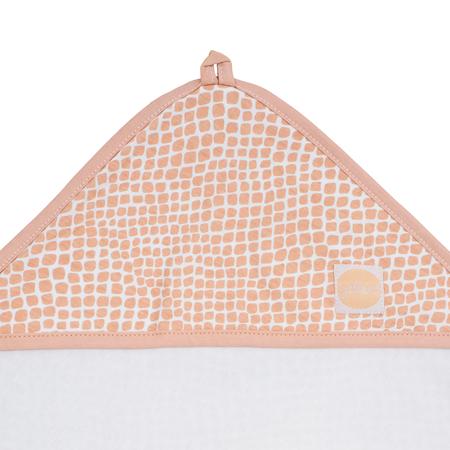 Jollein® Brisača s kapuco Snake Pale Pink 75x75