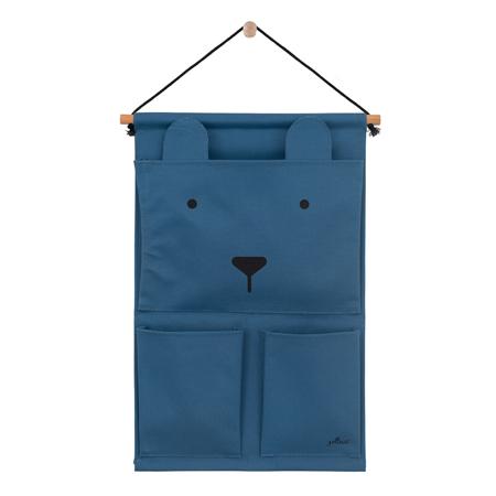 Slika Jollein® Stenski žep Steel Blue