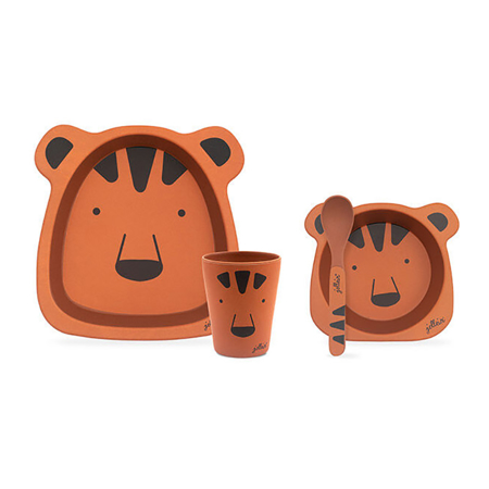 Jollein® Set za hranjenje Animal Club Rust