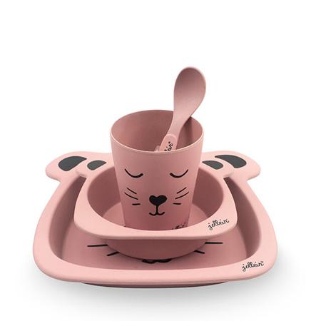 Jollein® Set za hranjenje Animal Club Rouge