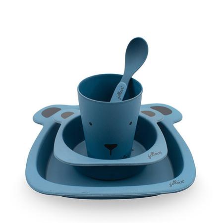 Slika Jollein® Set za hranjenje Animal Club Steel Blue