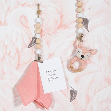 Jollein® Leseni obroček za grizenje Deer Pale Pink