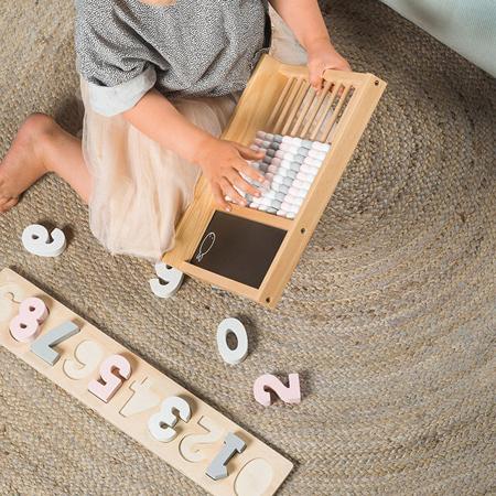Jollein® Otroško leseno računalo Pink/Grey