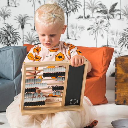 Slika Jollein® Otroško leseno računalo Black/Grey