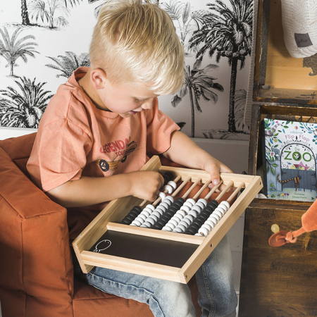 Jollein® Otroško leseno računalo Black/Grey