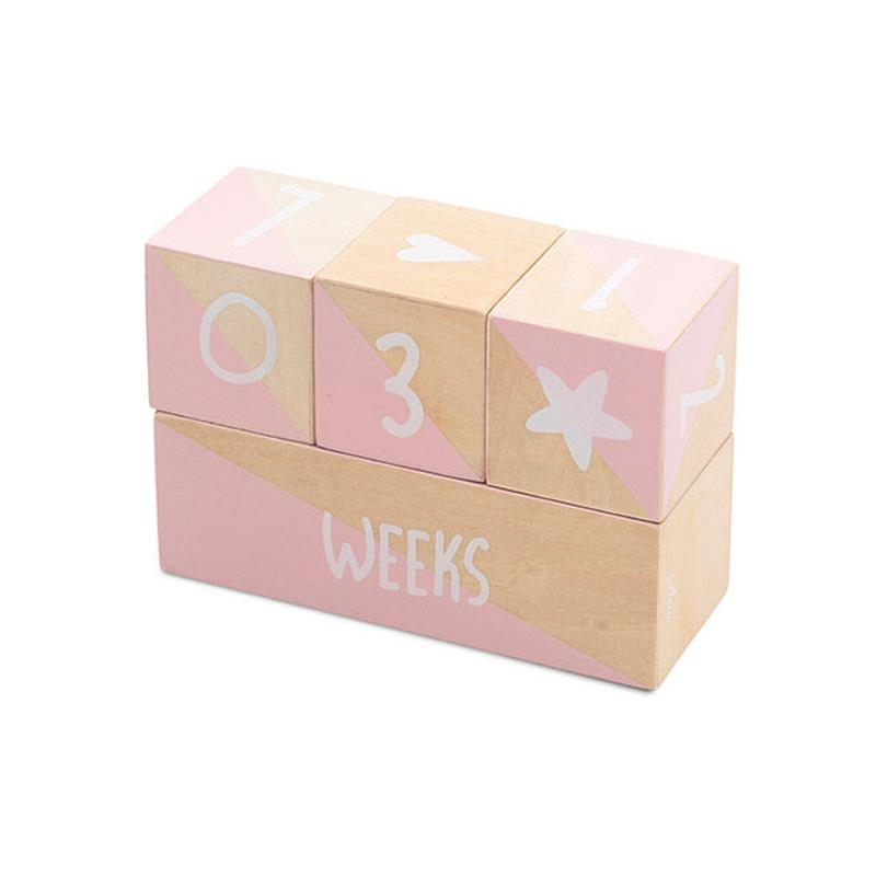 Jollein® Milstone leseni bloki Pink/White