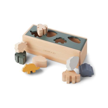 Slika Liewood® Lesena škatla Puzzle Box Dino Mix