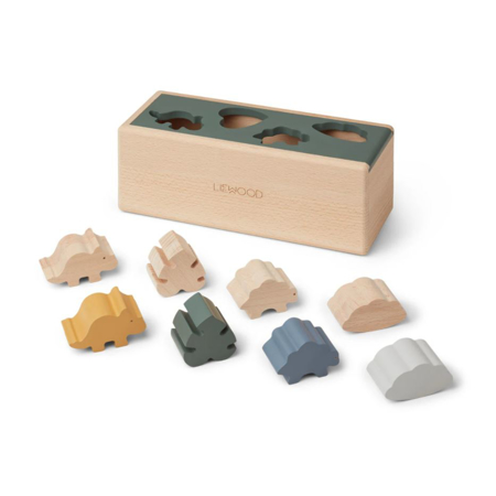 Liewood® Lesena škatla Puzzle Box Dino Mix