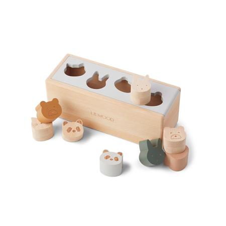 Slika Liewood® Lesena aktivnostna škatla s liki Midas Puzzle Box Classic Mix