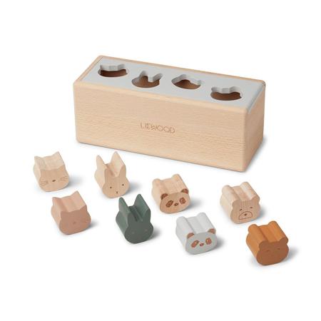 Liewood® Lesena aktivnostna škatla s liki Midas Puzzle Box Classic Mix