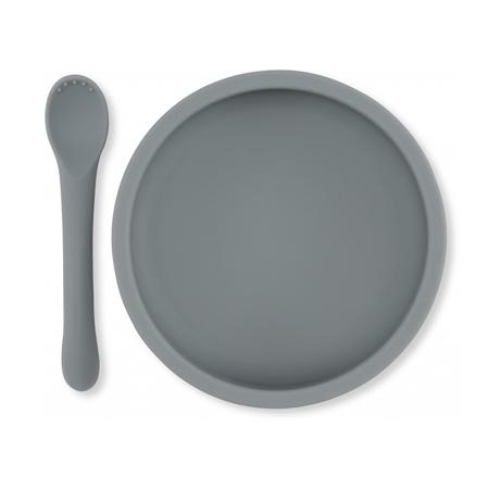 Slika Konges Sløjd® Silikonski set za hranjenje Light Blue