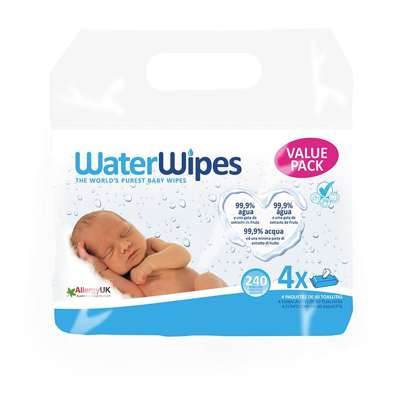 WaterWipes® Otroški vlažilni robčki 4x60/1