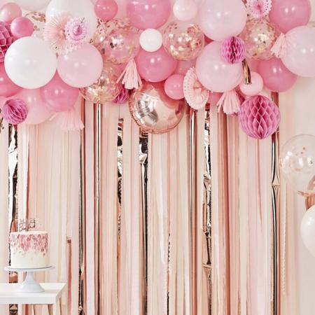 Slika Ginger Ray® Ozadje za fotografiranje z baloni Blush & Peach