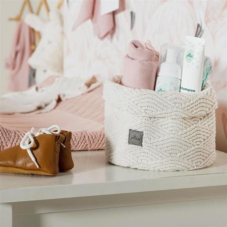 Jollein® Košara za shranjevanje River Knit Soft Grey