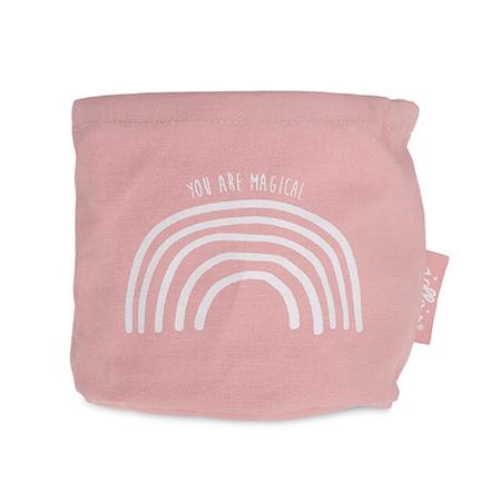 Slika Jollein® Košara za shranjevanje Canvas Rainbow Blush Pink