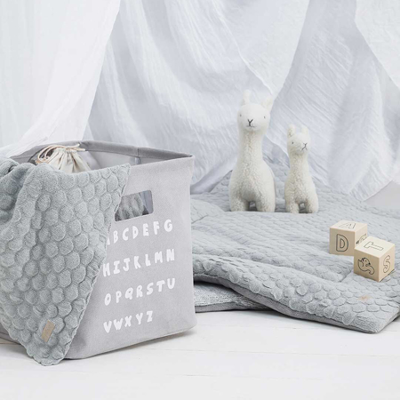 Jollein® Košara za shranjevanje ABC Soft Grey