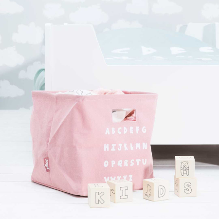 Jollein® Košara za shranjevanje ABC Blush Pink