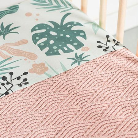 Jollein® Pletena odejica River Knit Pale Pink 100x75