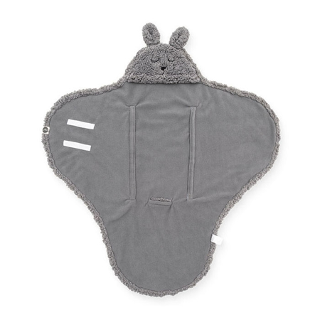 Jollein® Odeja za novorojenčke Bunny Storm Grey 105x100