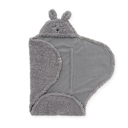 Slika Jollein® Odeja za novorojenčke Bunny Storm Grey 105x100