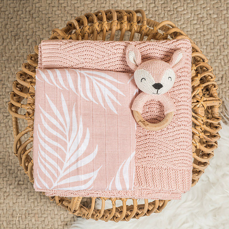 Jollein® Komplet 3 krpic za umivanje Nature Pale Pink 20x15