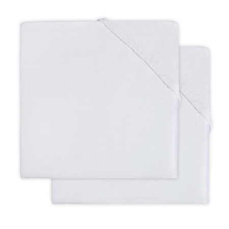 Slika Jollein® Bombažna rjuha White 2 kosa 120x60