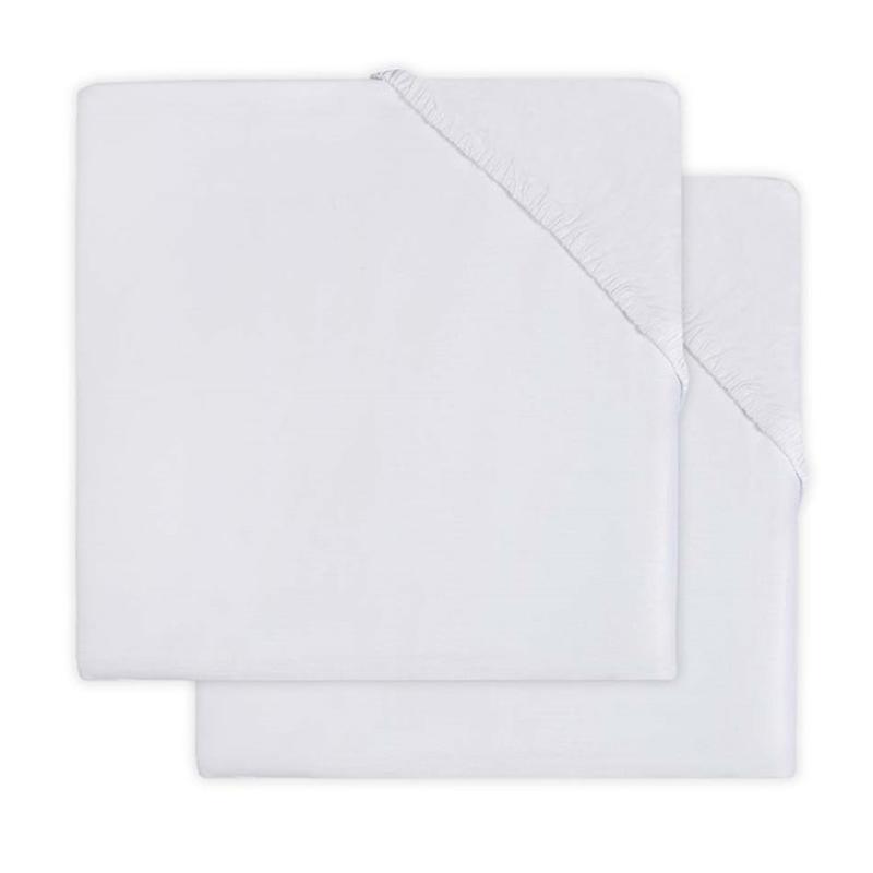Jollein® Bombažna rjuha White 2 kosa 120x60