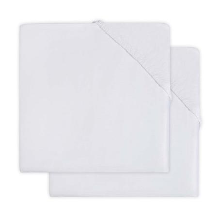 Jollein® Bombažna rjuha White 2 kosa 140x70/150x75