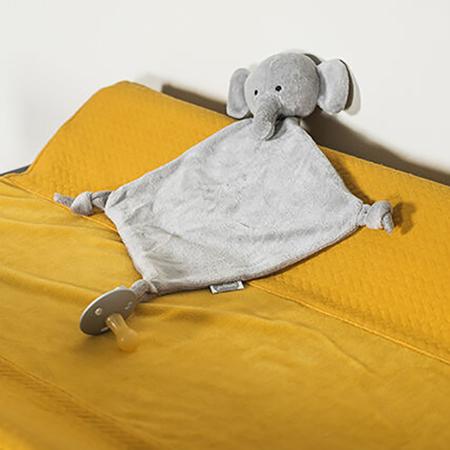 Jollein® Ninica in priponka za dudo Elephant Storm Grey