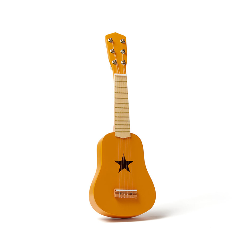 Kids Concept® Lesena kitara Yellow